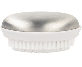 Stainless Steel Soap with Nail Brush