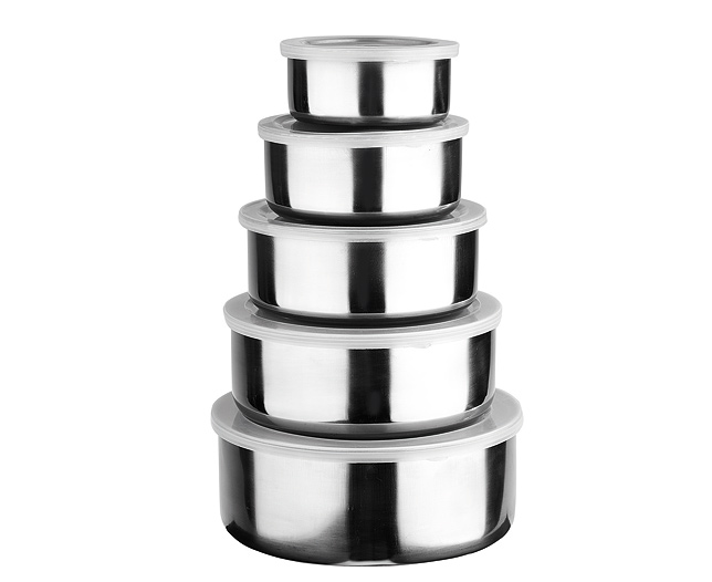 Stainless Steel Bowls Set of 5