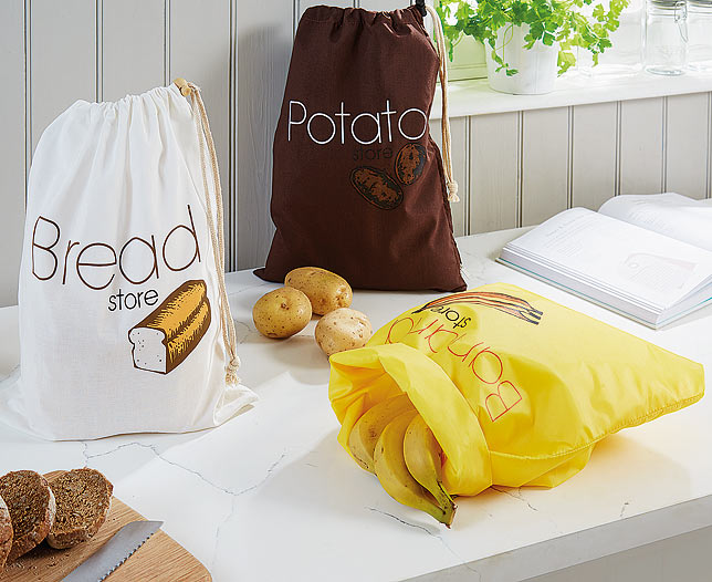 Banana Bread and Potato Storage Bag Set
