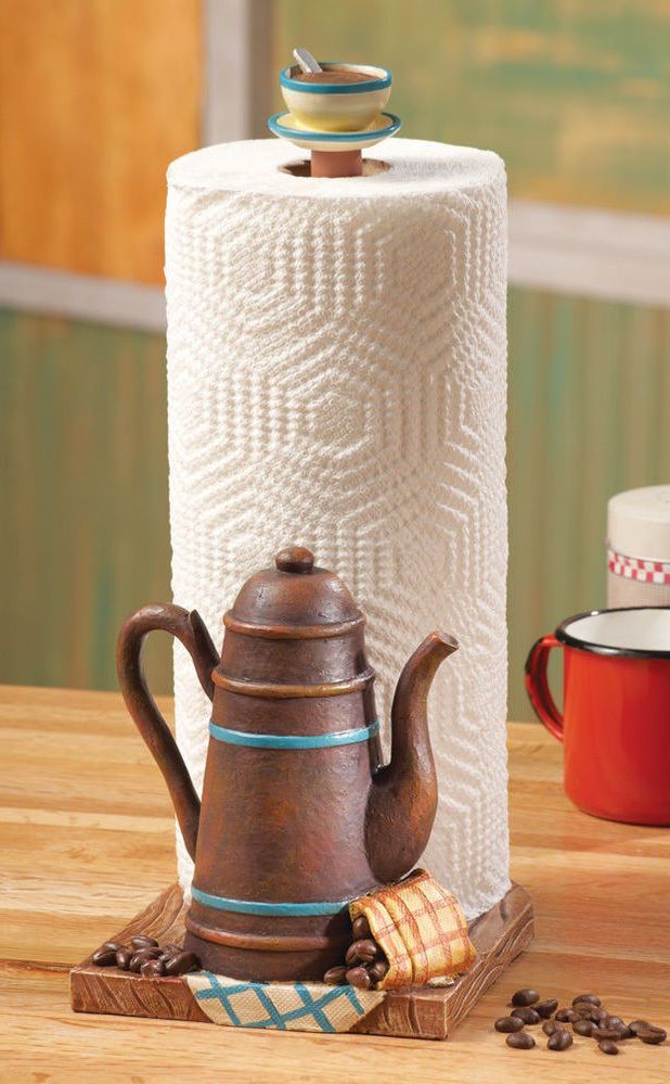 Teapot Design Kitchen Roll Holder