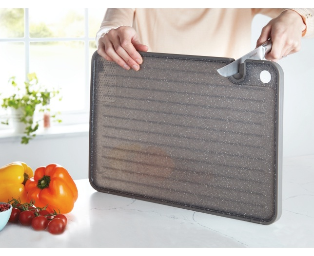 Chopping Board with Built In Knife Sharpener