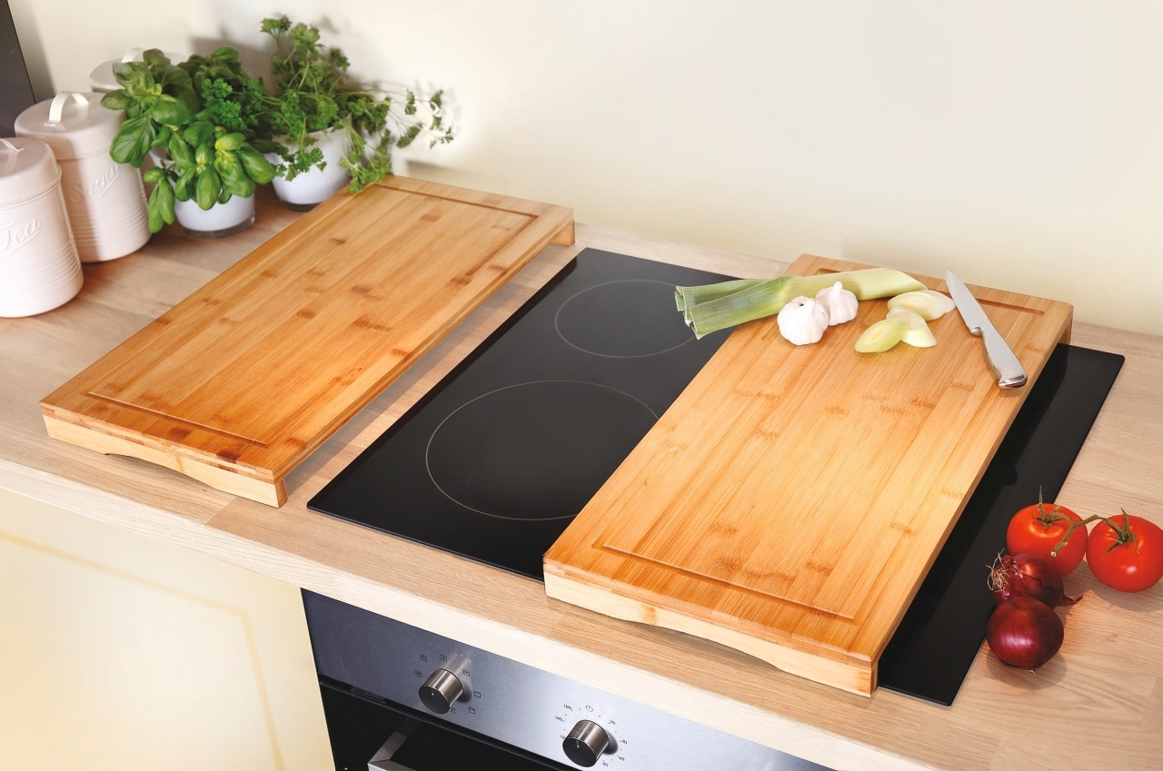 Bamboo Hob Protection Cutting Board Set of 2