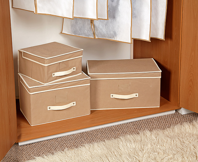 3 Piece Flat Pack Storage Set