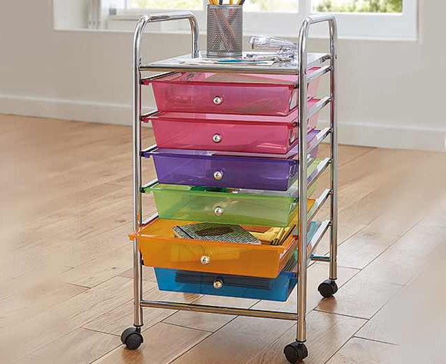 6 Drawer Storage Cart