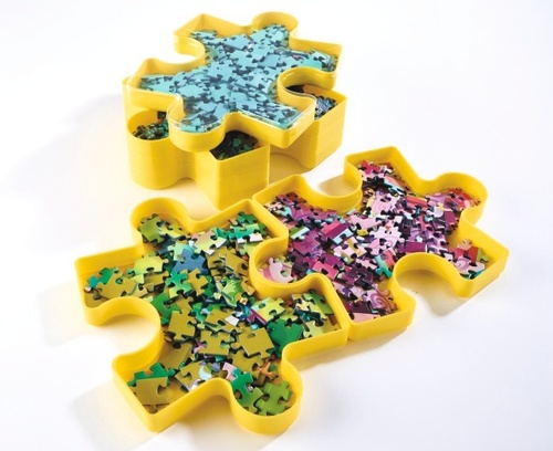 Set of 6 Stackable Trays (Jigsaw Puzzle Design)