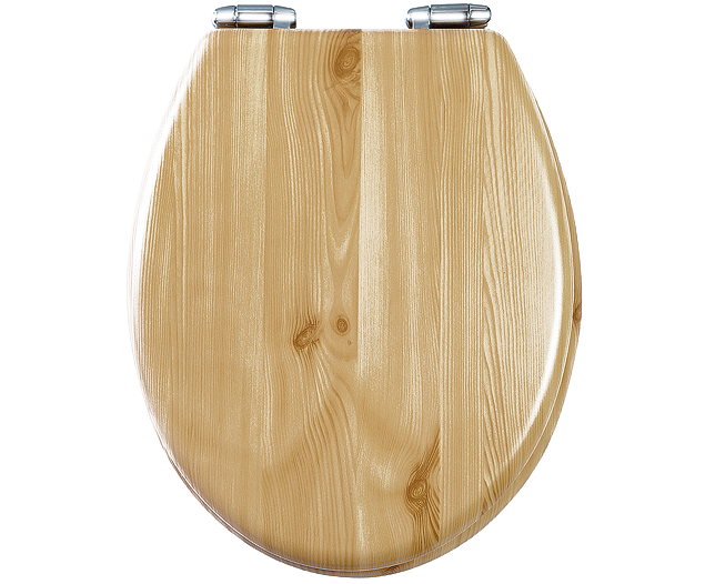 S S Wooden Soft Close Toilet Seat
