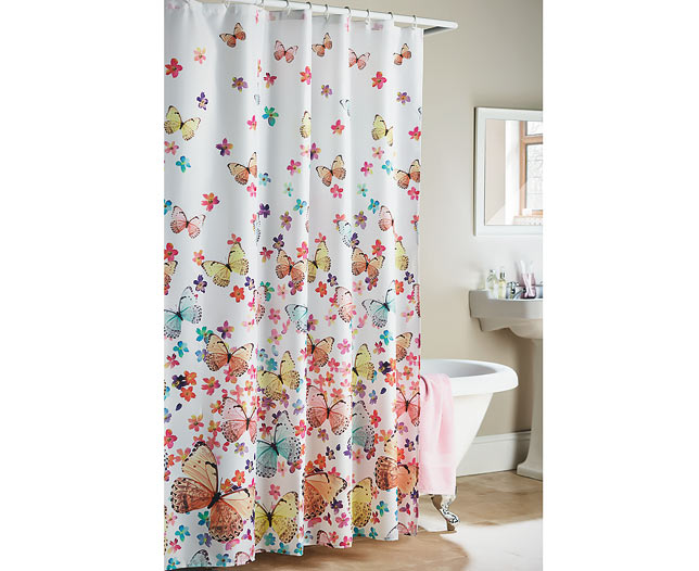 s s butterfly shower curtain