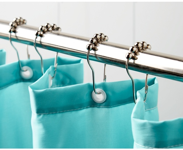 Shower Curtain Hooks with Roller Balls
