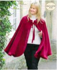 Red Claret Fleece Cape