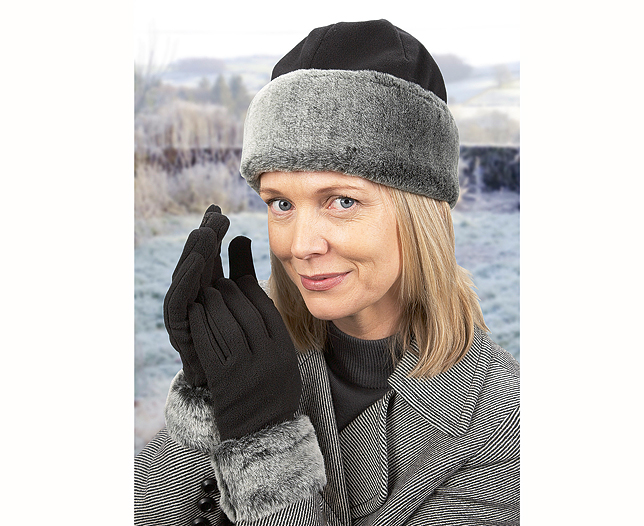 Microfibre Hat & Gloves