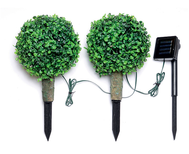 Mini Tree with Solar Light (Set of 2)