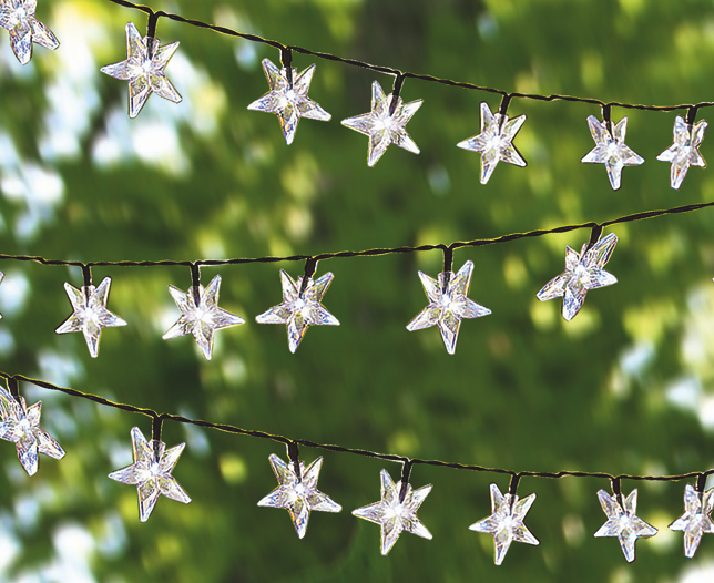 String Star Solar Lights Set of 50