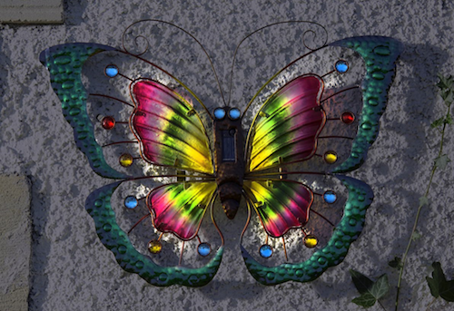 Wall Mounted Butterfly Solar Light