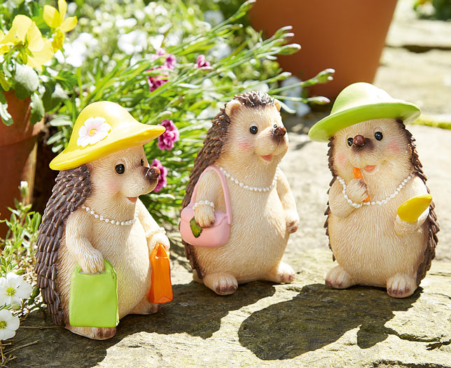 Set of 3 Hedgehog Ladies