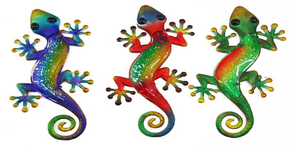 Gecko Wall Art Set of 3