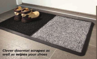 Easy to Clean Double Doormat with Dual Surfaces