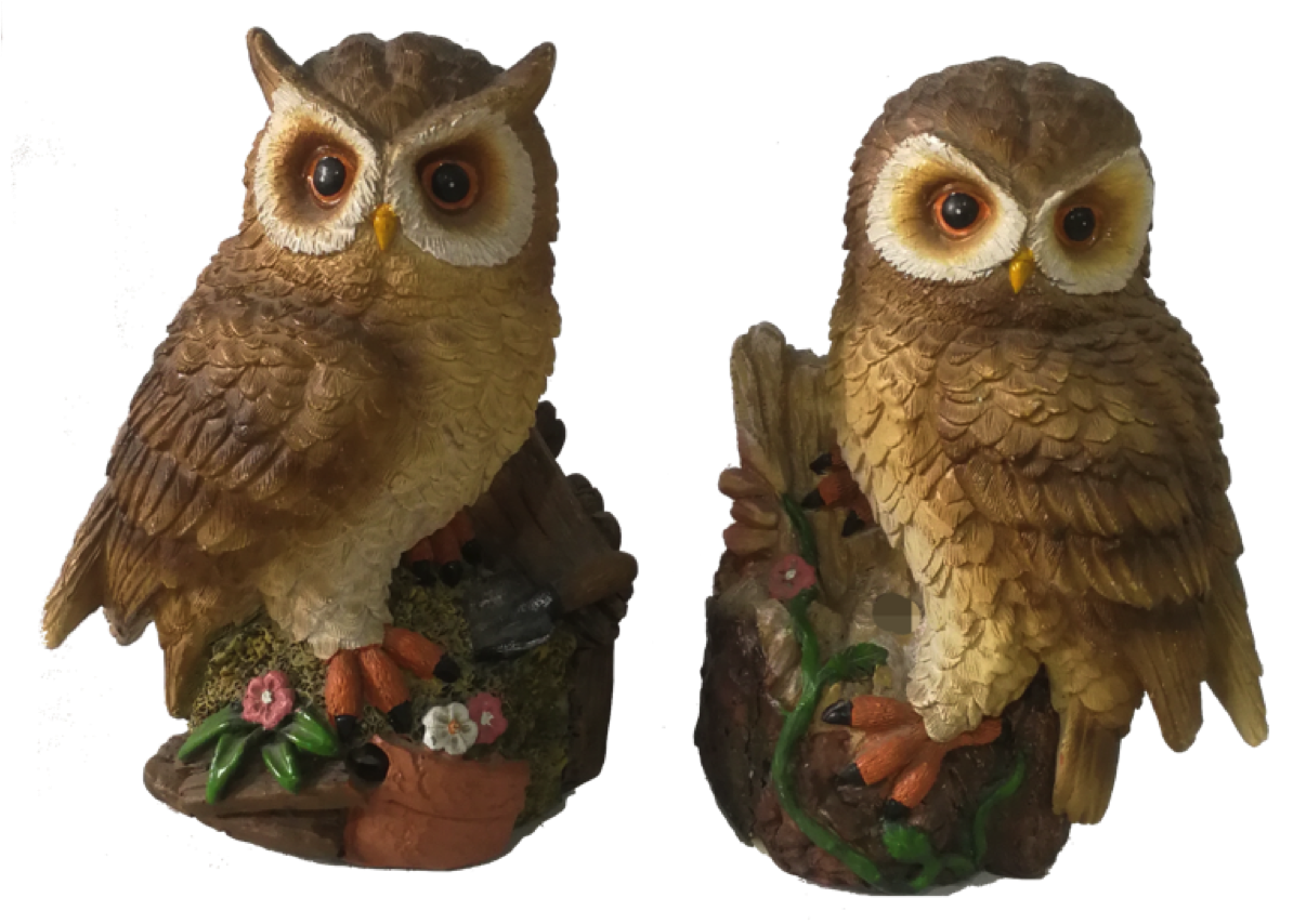 Set of 2 Decorative Owls