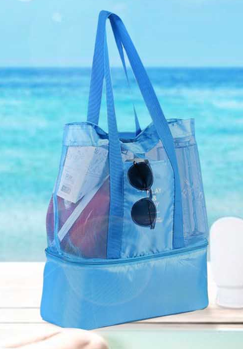 Beach Bag with Cooler Section