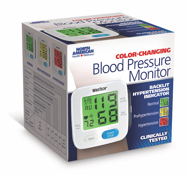 Colour Changing Blood Pressure Monitor