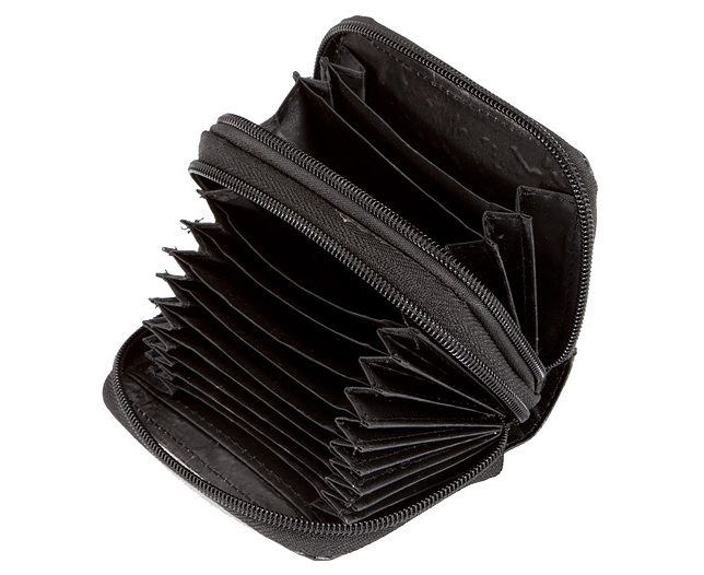 Leather Accordion Security Wallet (RFID)