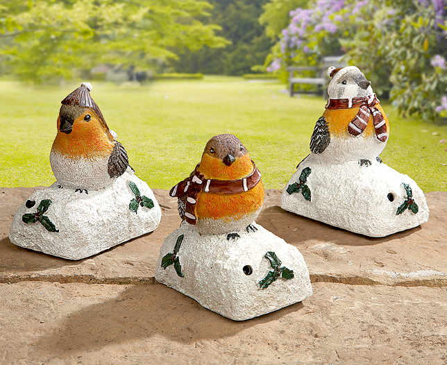 Robin Sensor Figurines Set of 3