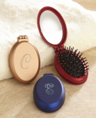 Mini Hair Brush with Mirror Set of 3