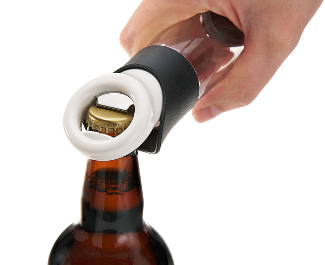 Beer Bottle Opener with Cap Collector