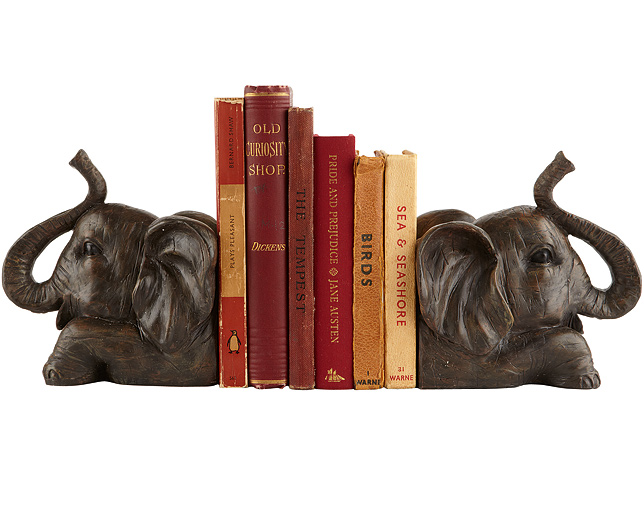 Elephant Design Bookend