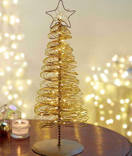 Gold LED Christmas Tree