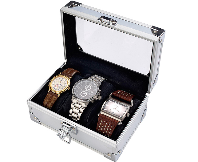 Hard Shell Men Watch Box