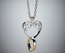 Ring Keeper Heart Necklace