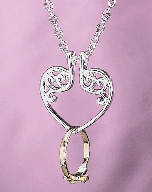 s s ring keeper heart necklace