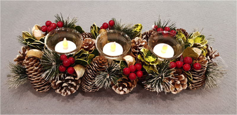 Wreath with Candle Holder