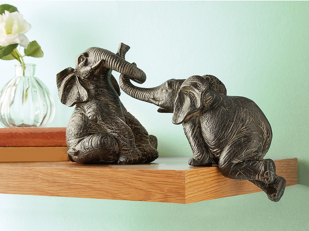 Set of 2 Shelf Elephants