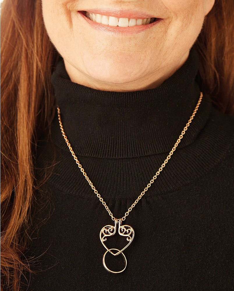 Ring Keeper Heart Necklace Gold