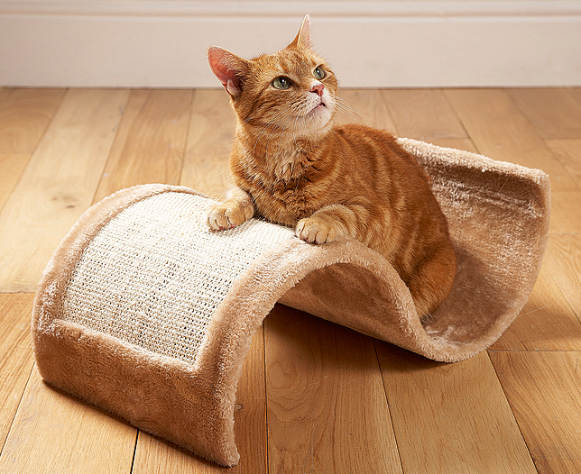 Cat Scratching Platform Wavy Design