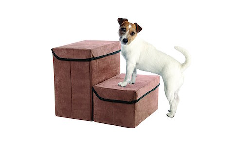 Fold-Away Pet Steps with Storage