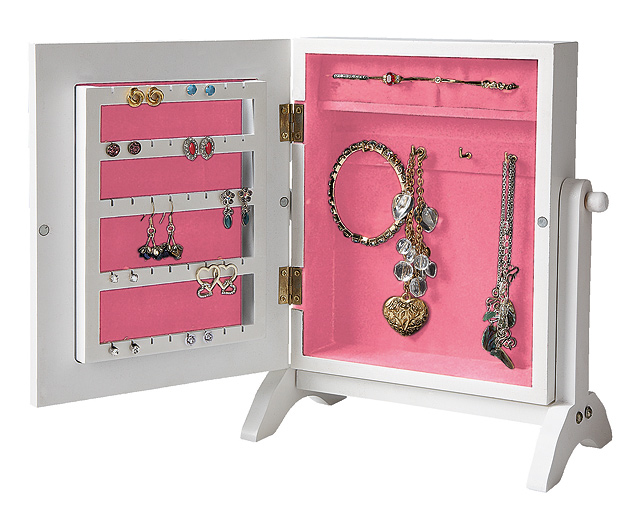 Wooden Jewellery Organiser with Mirror