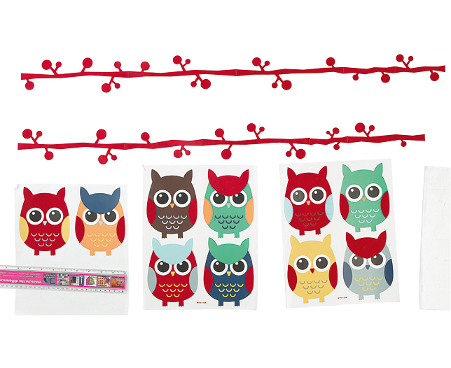 Owl Wall Stickers Set of 4