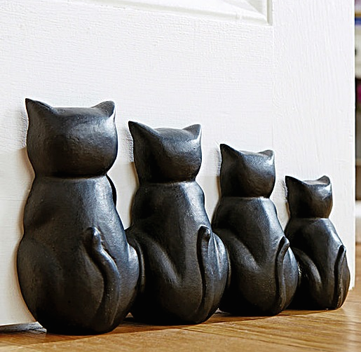 Cast Iron Cat Design Door Stopper