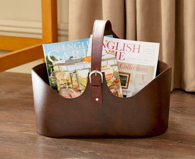 Faux Leather Magazine Holder