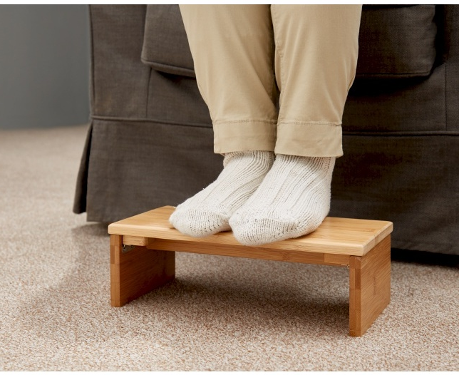 Compact Wooden Folding Footrest