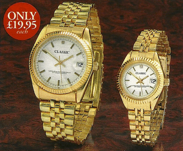 Gold Plated Classic Quartz Date Watch
