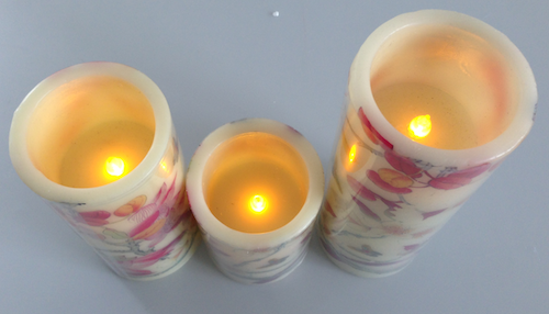 Set of 3 Wax LED Candles