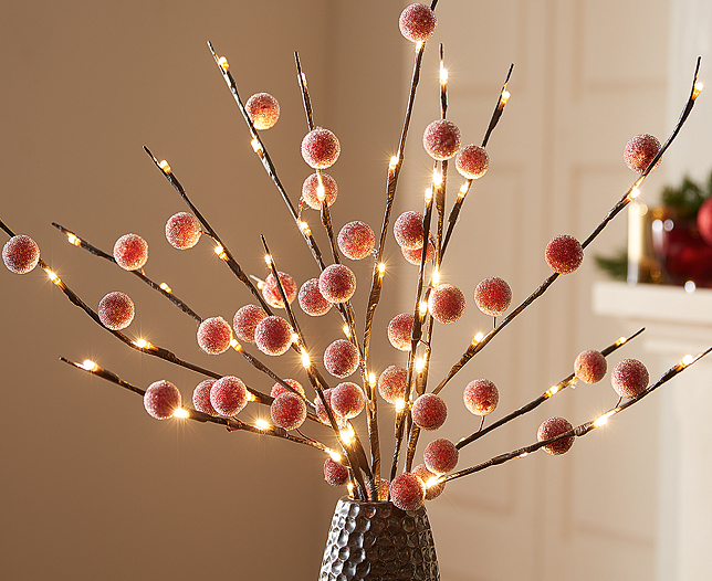 LED Light Branches Berry