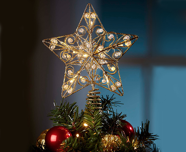 Treetop LED Metal Star
