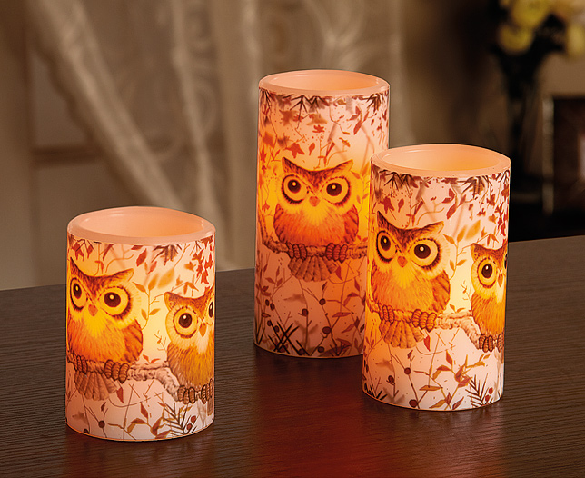 LED Wax Candle Set of 3