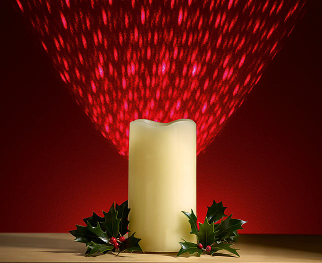 Battery Operated Laser Candle
