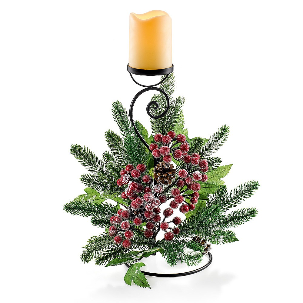 Christmas Berry Candle Stick
