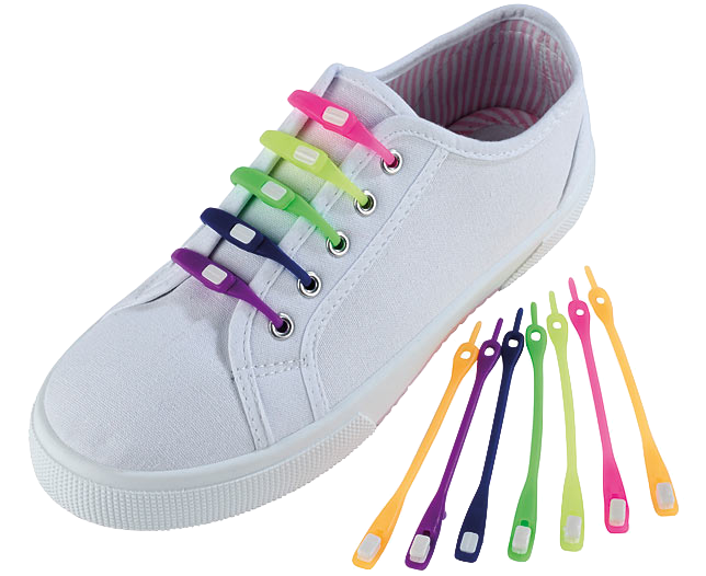Colourful Silicone Shoelaces